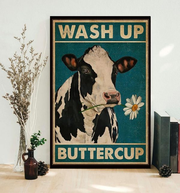Dairy cattle wash up buttercup canvas