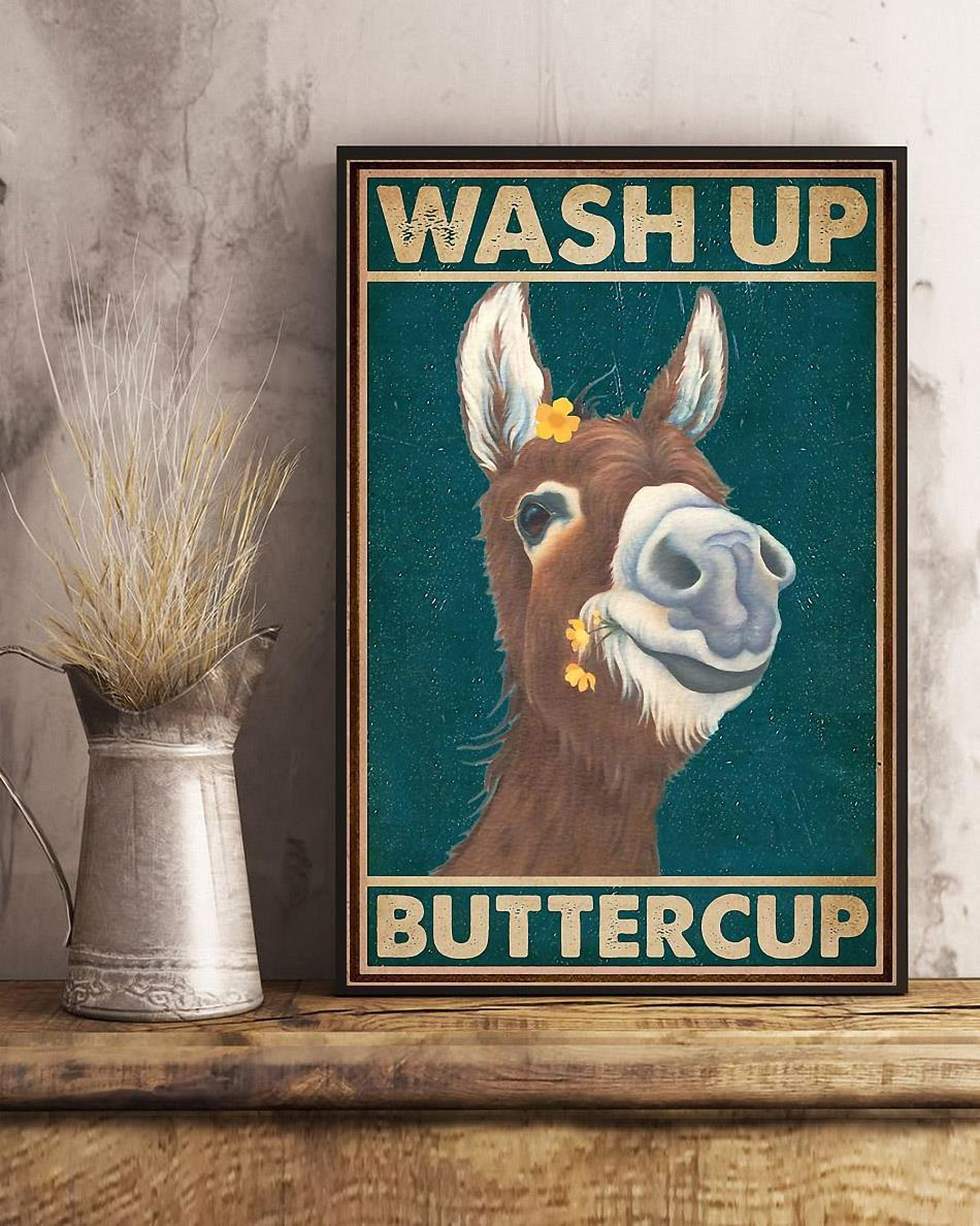 Donkey wash up buttercup poster art