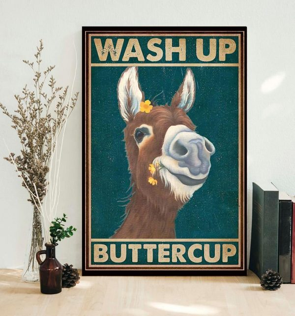 Donkey wash up buttercup poster
