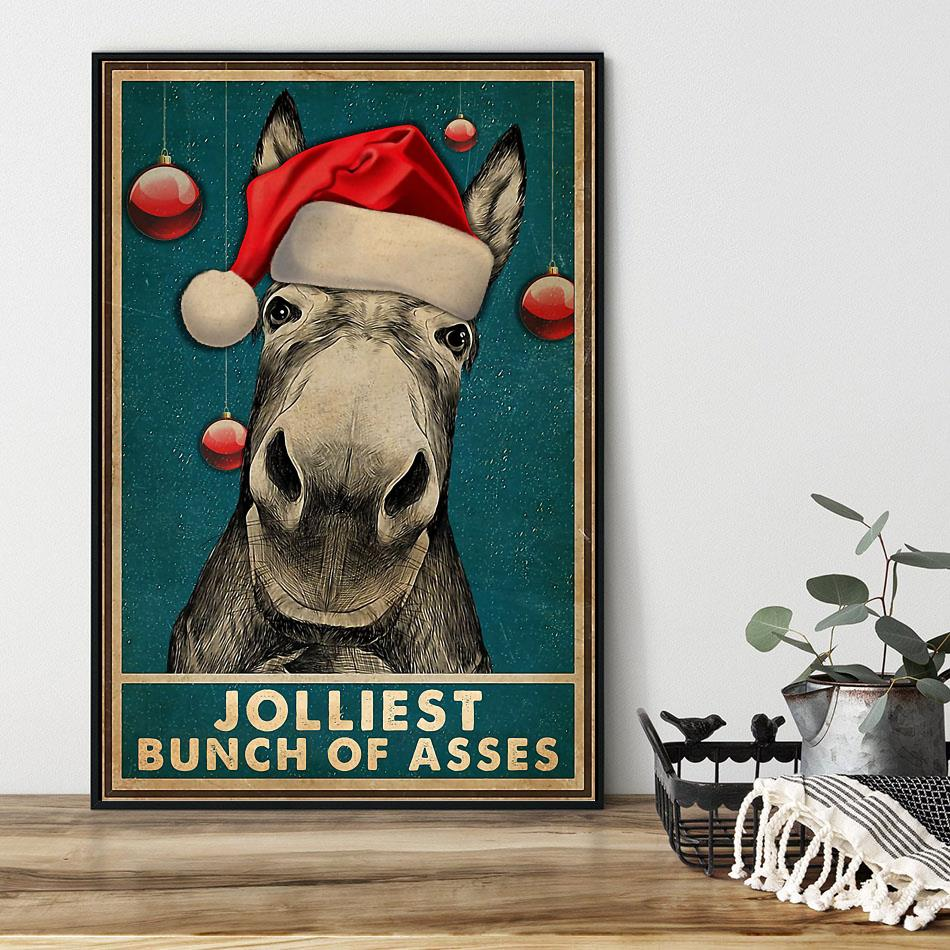 Donkyey Jolliest bunch of asses poster canvas black
