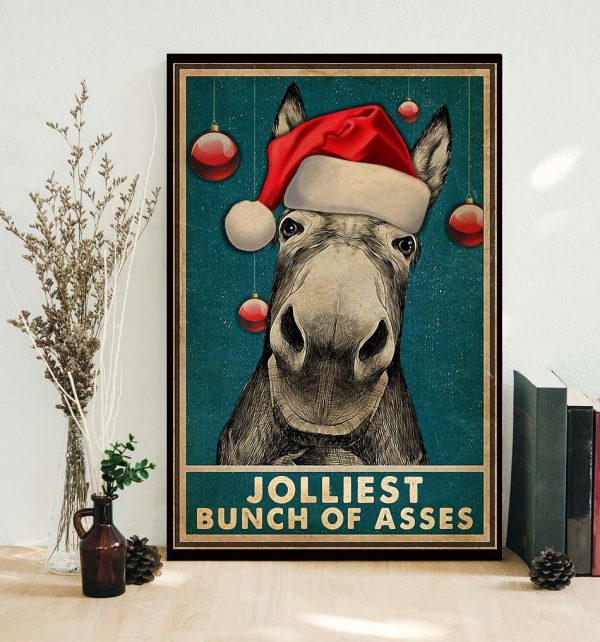 Donkyey Jolliest bunch of asses poster canvas