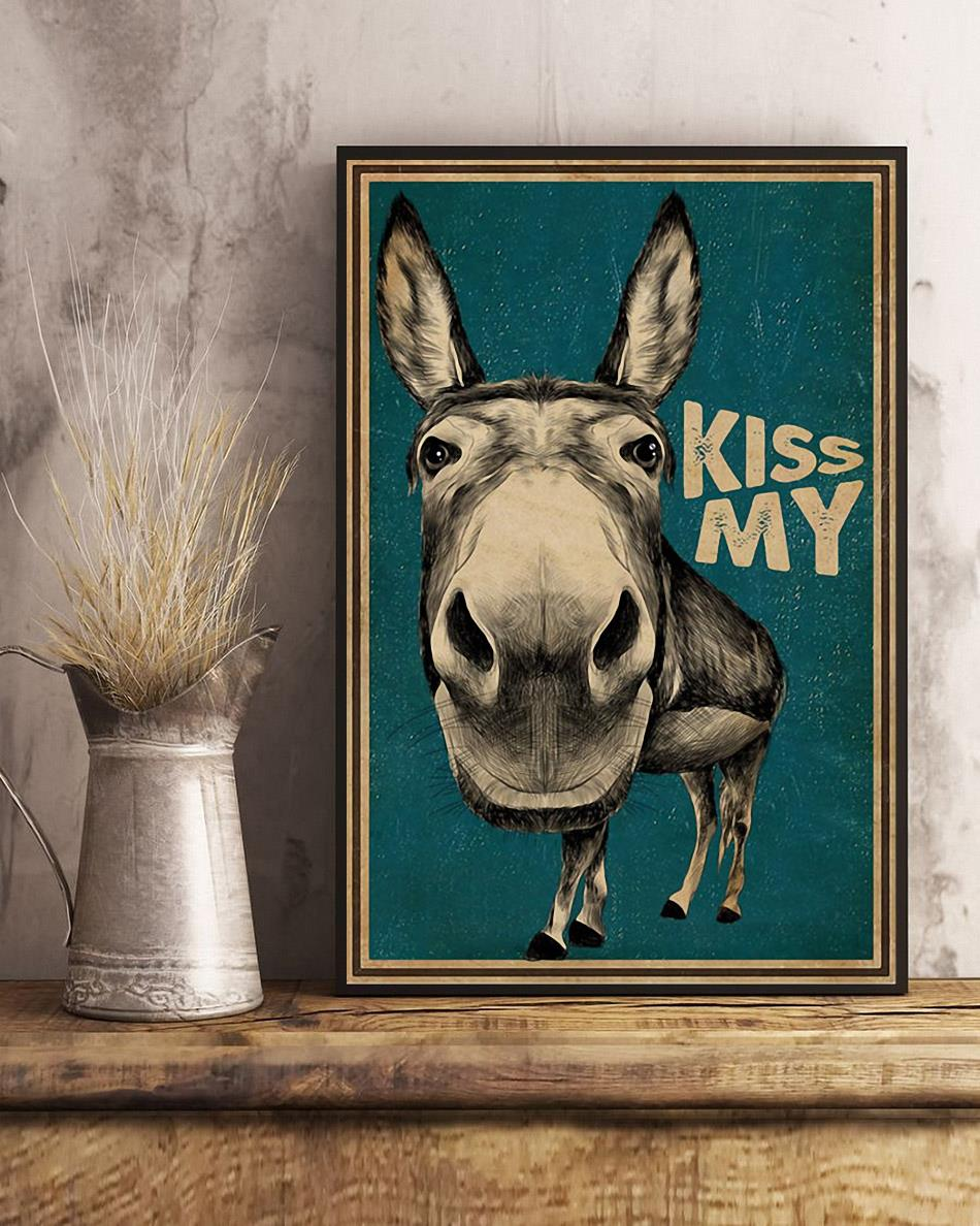Kiss My Donkey poster canvas art