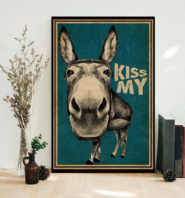 Kiss My Donkey poster canvas