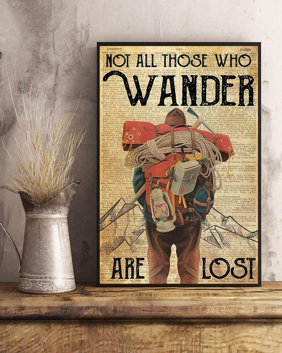 Mountaineering not all those who wander are lost poster art