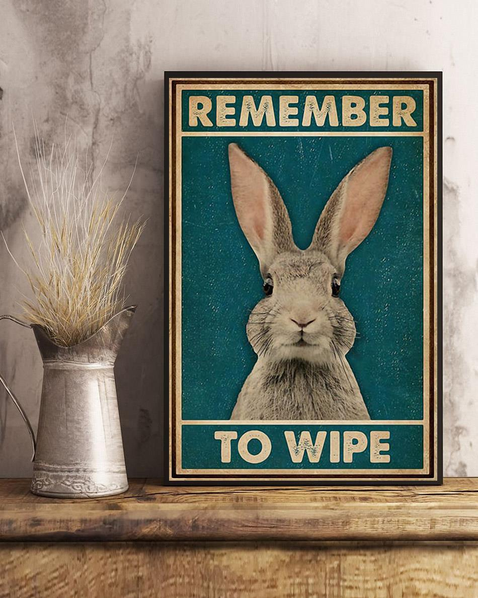 Rabbit remember to wife poster art