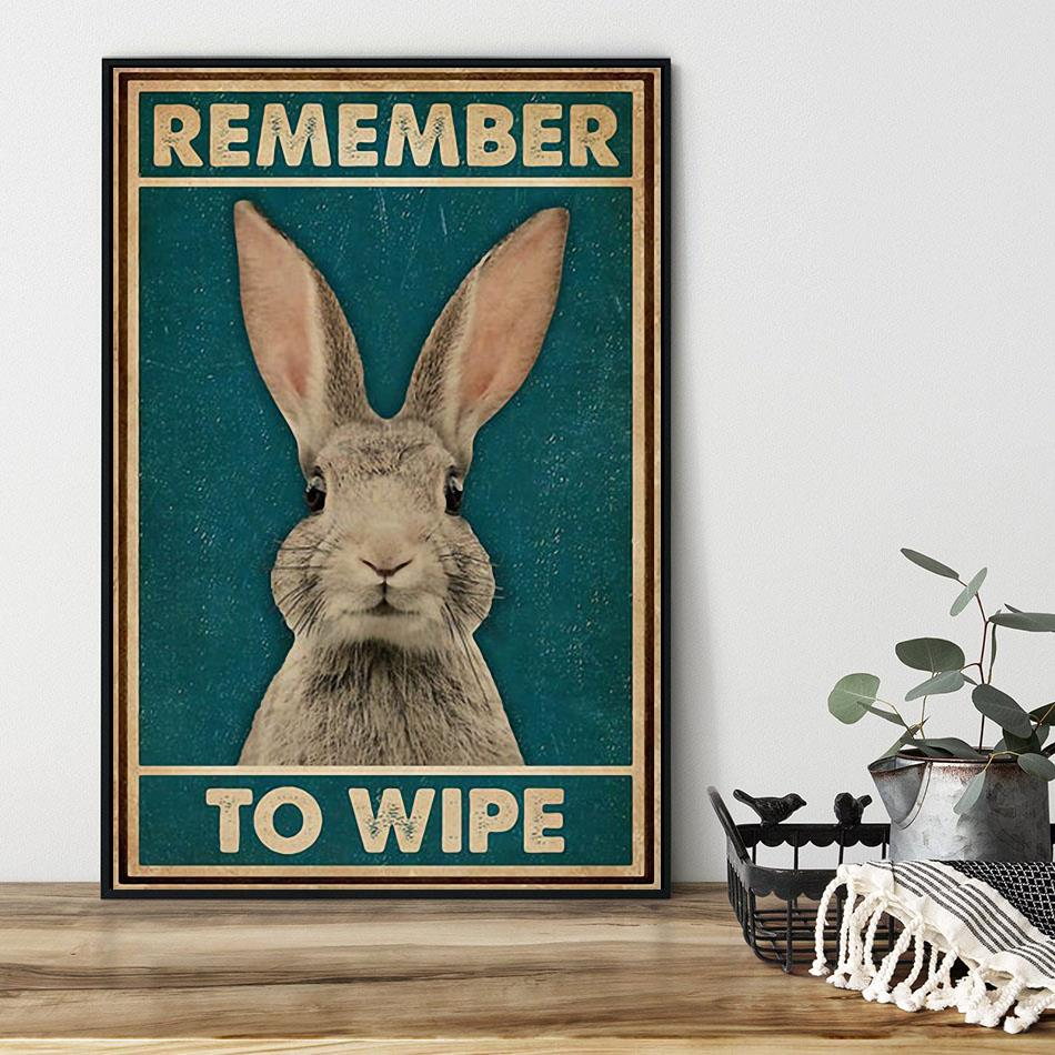 Rabbit remember to wife poster black
