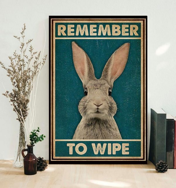 Rabbit remember to wife poster