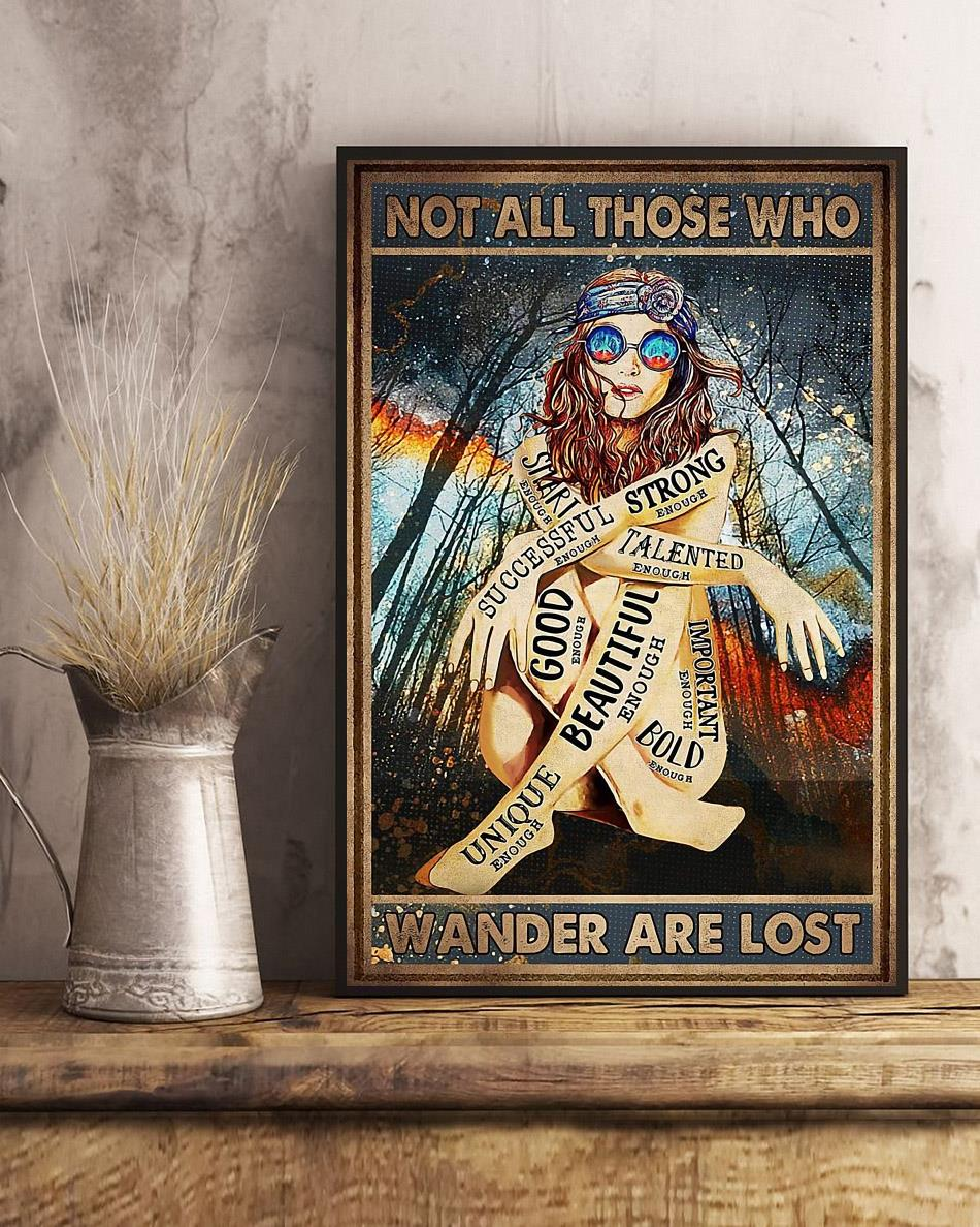 Redhead not all those who wander are lost poster art