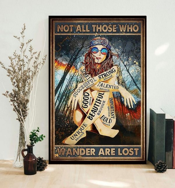 Redhead not all those who wander are lost poster