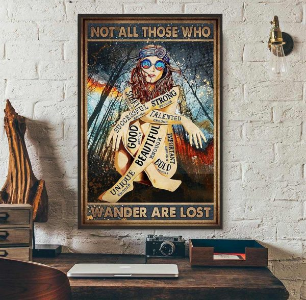Redhead not all those who wander are lost poster wall art