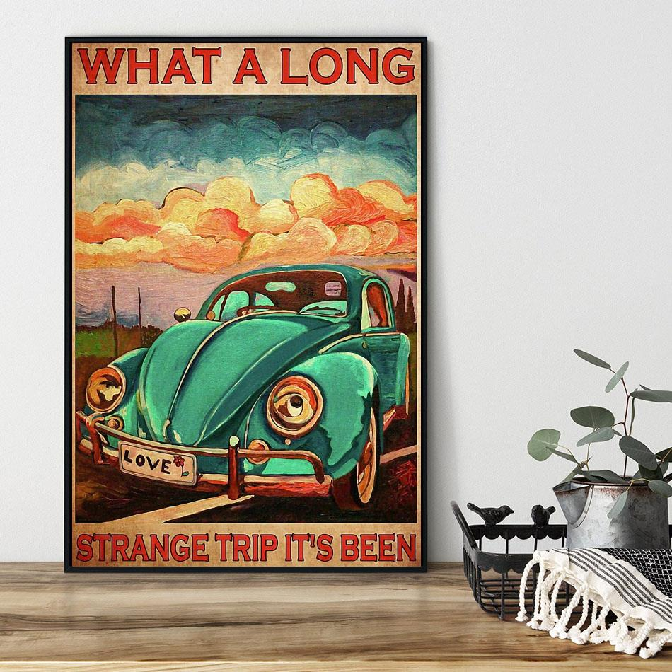 What a long strange trip it's been love peace poster black