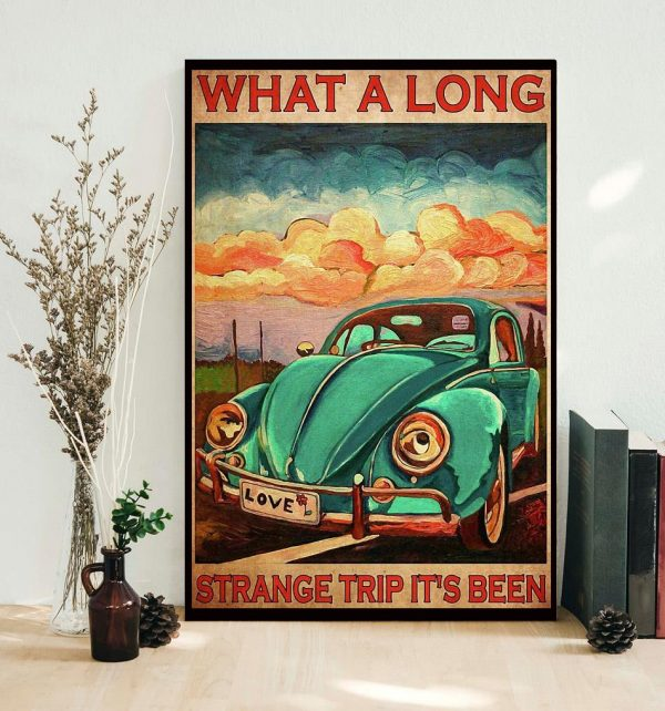 What a long strange trip it's been love peace poster