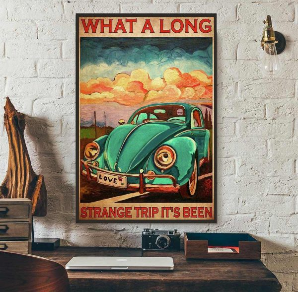 What a long strange trip it's been love peace poster wall art