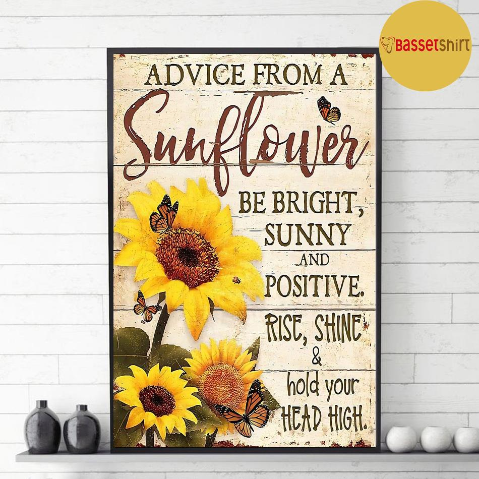 Advice from this sunflower be right sunny poster decor 1