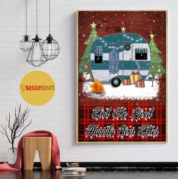 Christmas Camping and she lived happily ever after poster