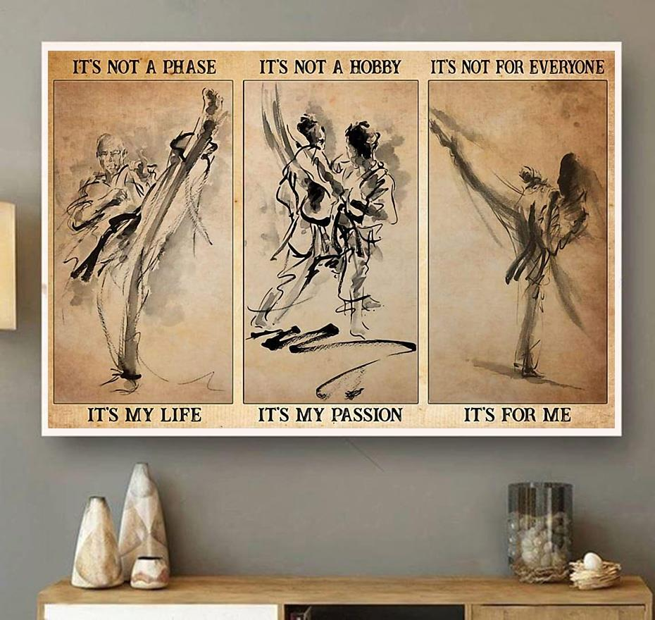 Karate it's not a phase it's not a hobby landscape canvas wall art