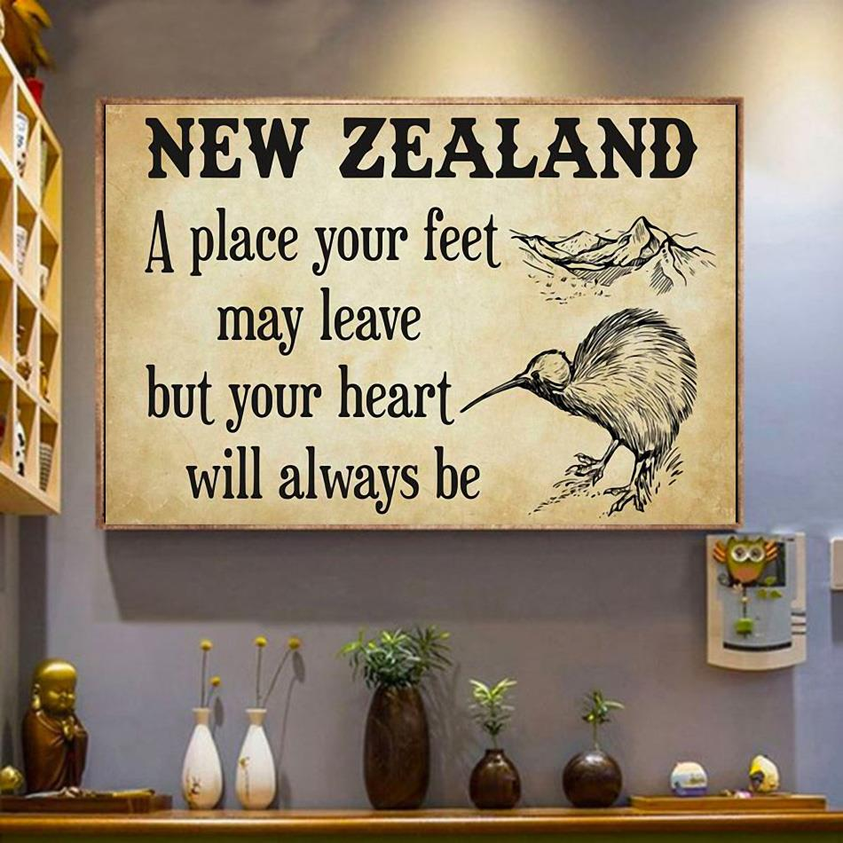 New Zealand a place your feet may leave but you heart will always be canvas wrapped canvas