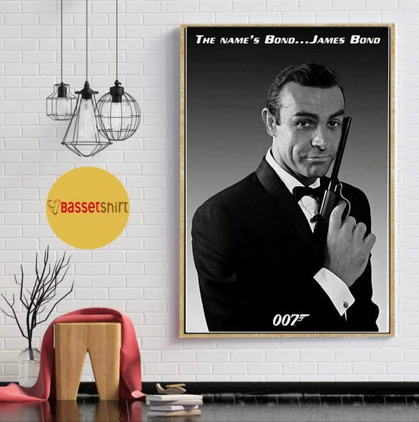 Sean Connery Poster Actor Black and White Young Canvas