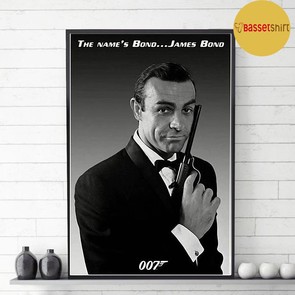 Sean Connery Poster Actor Black and White Young Canvas decor 1