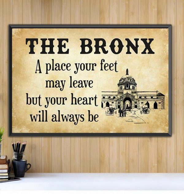 Travel The Bronx a place your feet may leave horizontal canvas Black canvas
