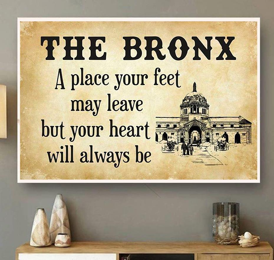 Travel The Bronx a place your feet may leave horizontal canvas wall art