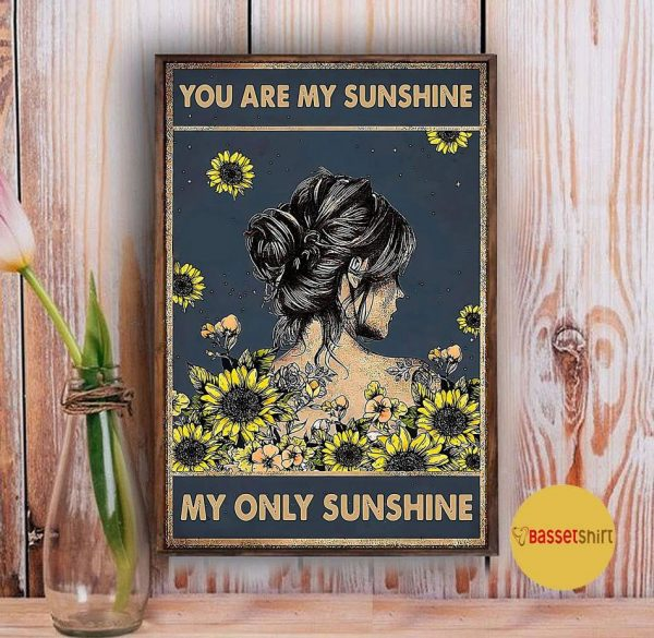 You are my sunshine my only sunshine sunflower girl poster Vintage