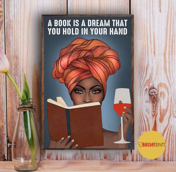 A book is a dream that you hold in your hand vertical poster Vintage