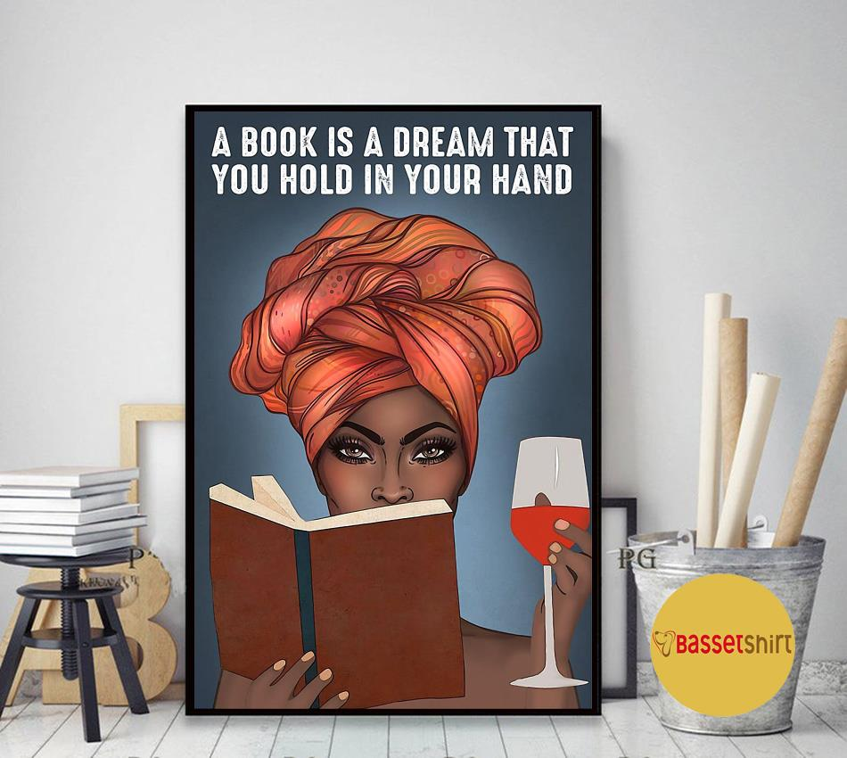 A book is a dream that you hold in your hand vertical poster art decor