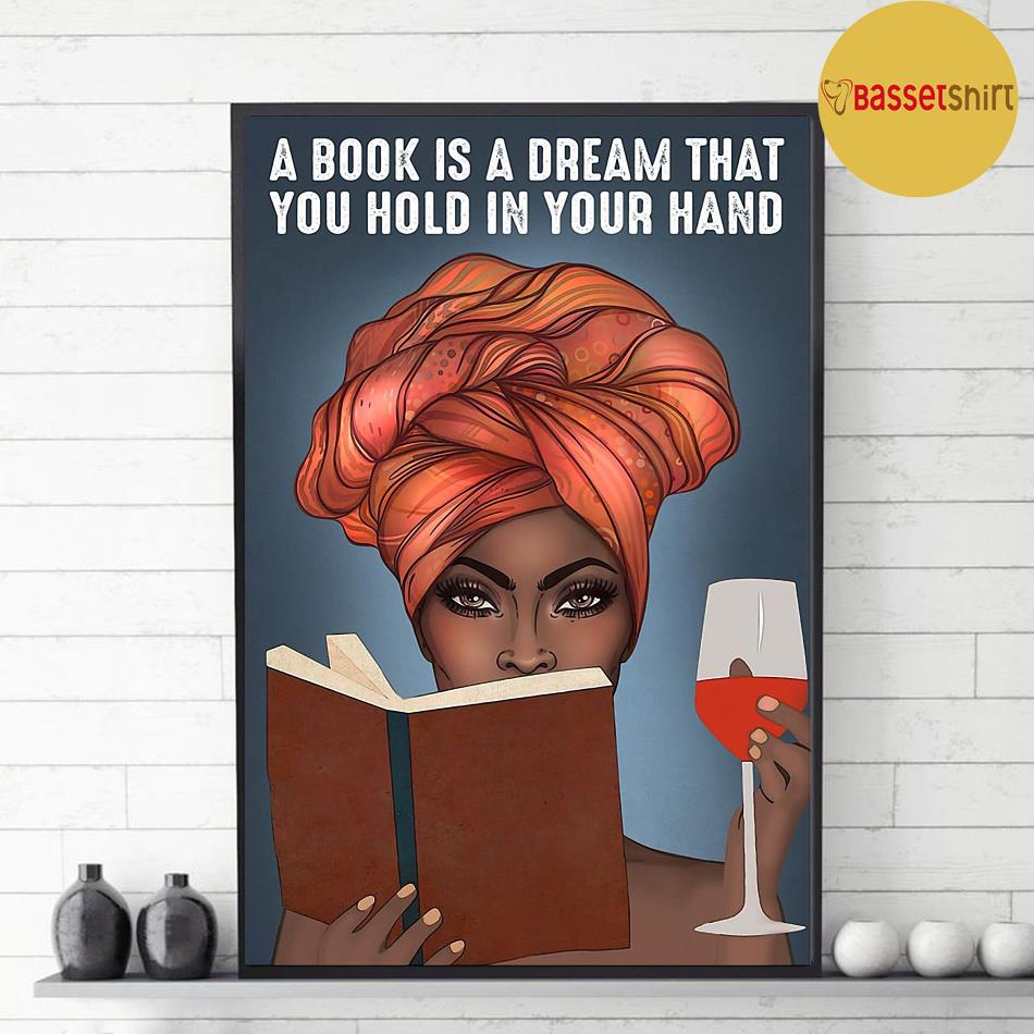 A book is a dream that you hold in your hand vertical poster decor 1