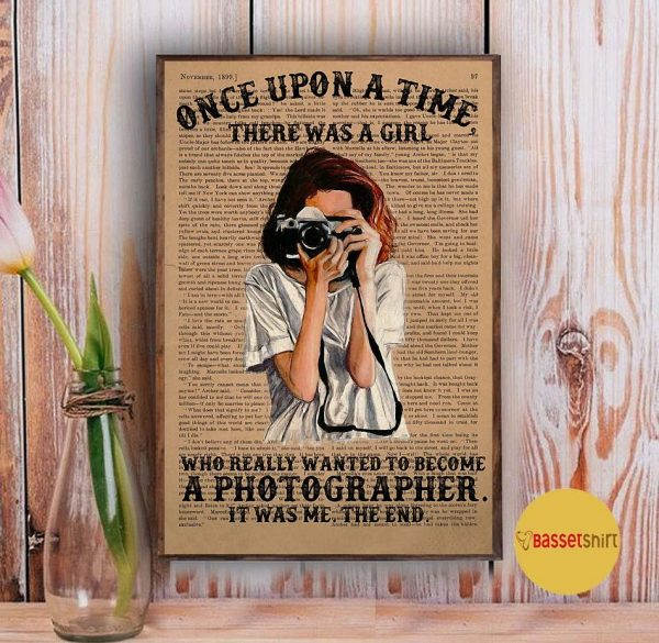 A girl wanted become a photographer poster Vintage