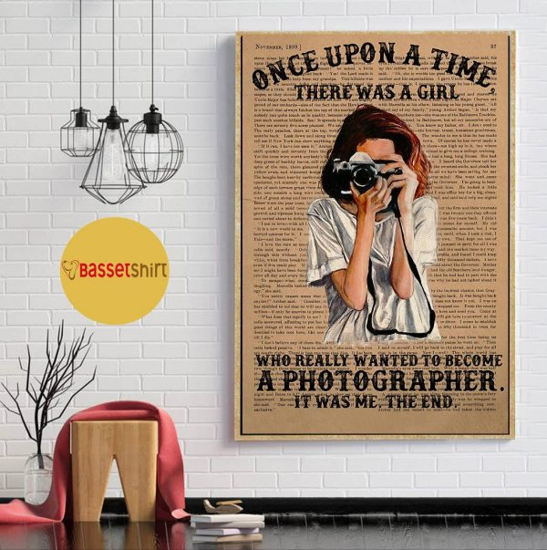 A girl wanted become a photographer poster