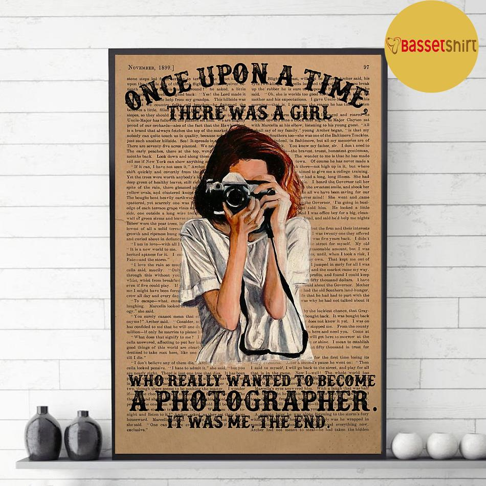 A girl wanted become a photographer poster decor 1