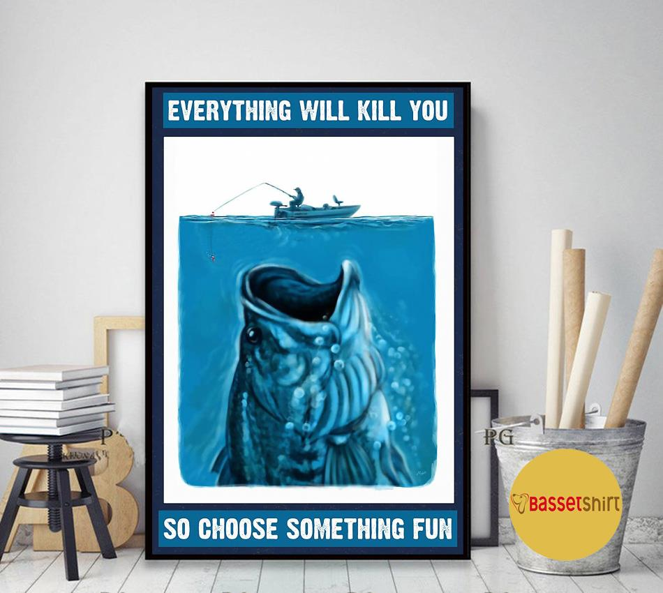 A fish story choosing the best way to be caught poster art decor
