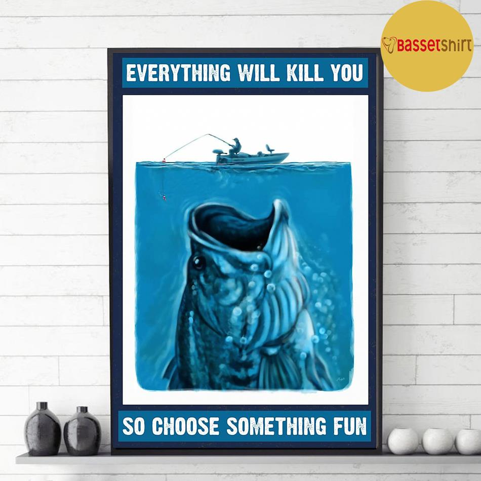 A fish story choosing the best way to be caught poster decor