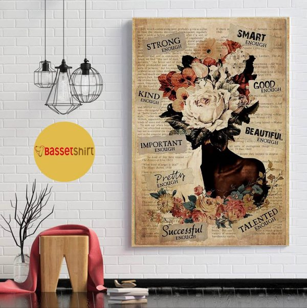 African American Woman flower poster