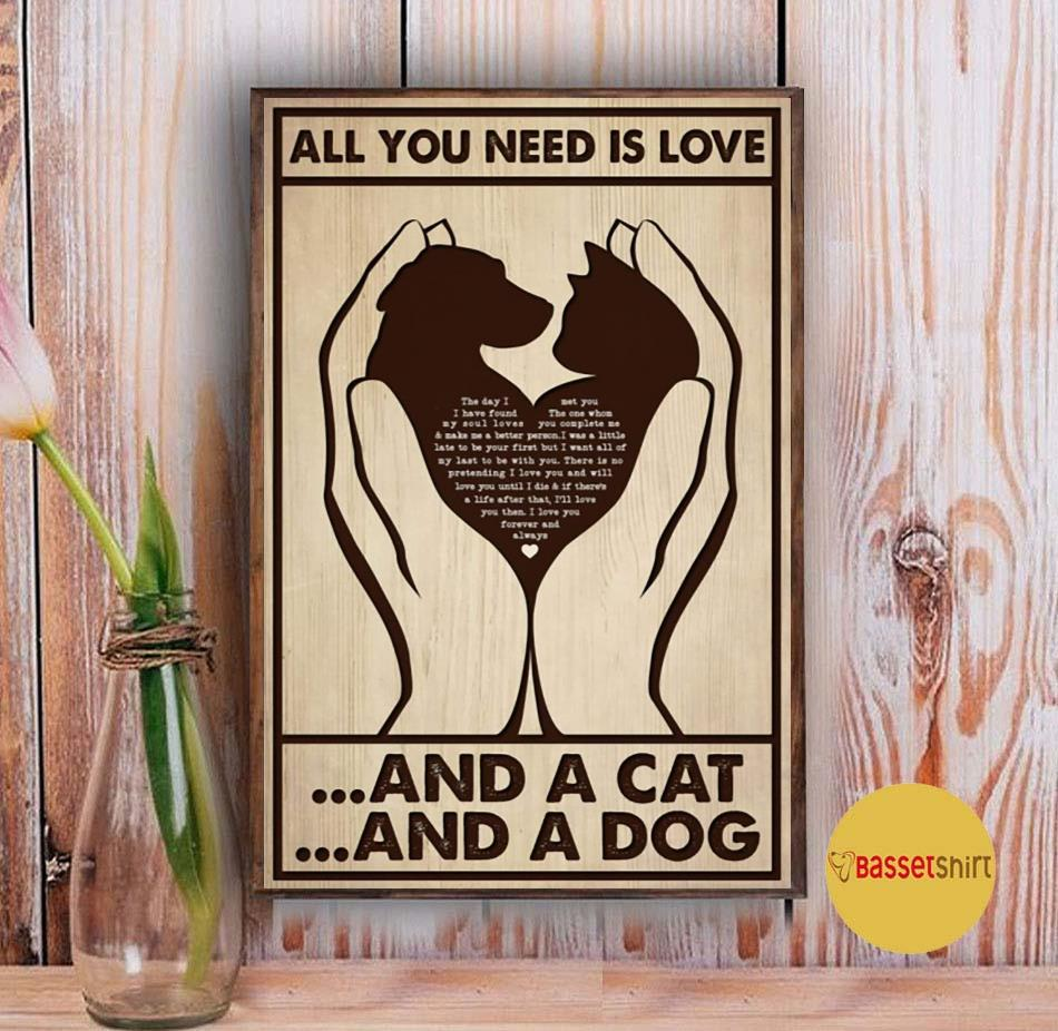 All you need is cats and dogs vertical poster Vintage
