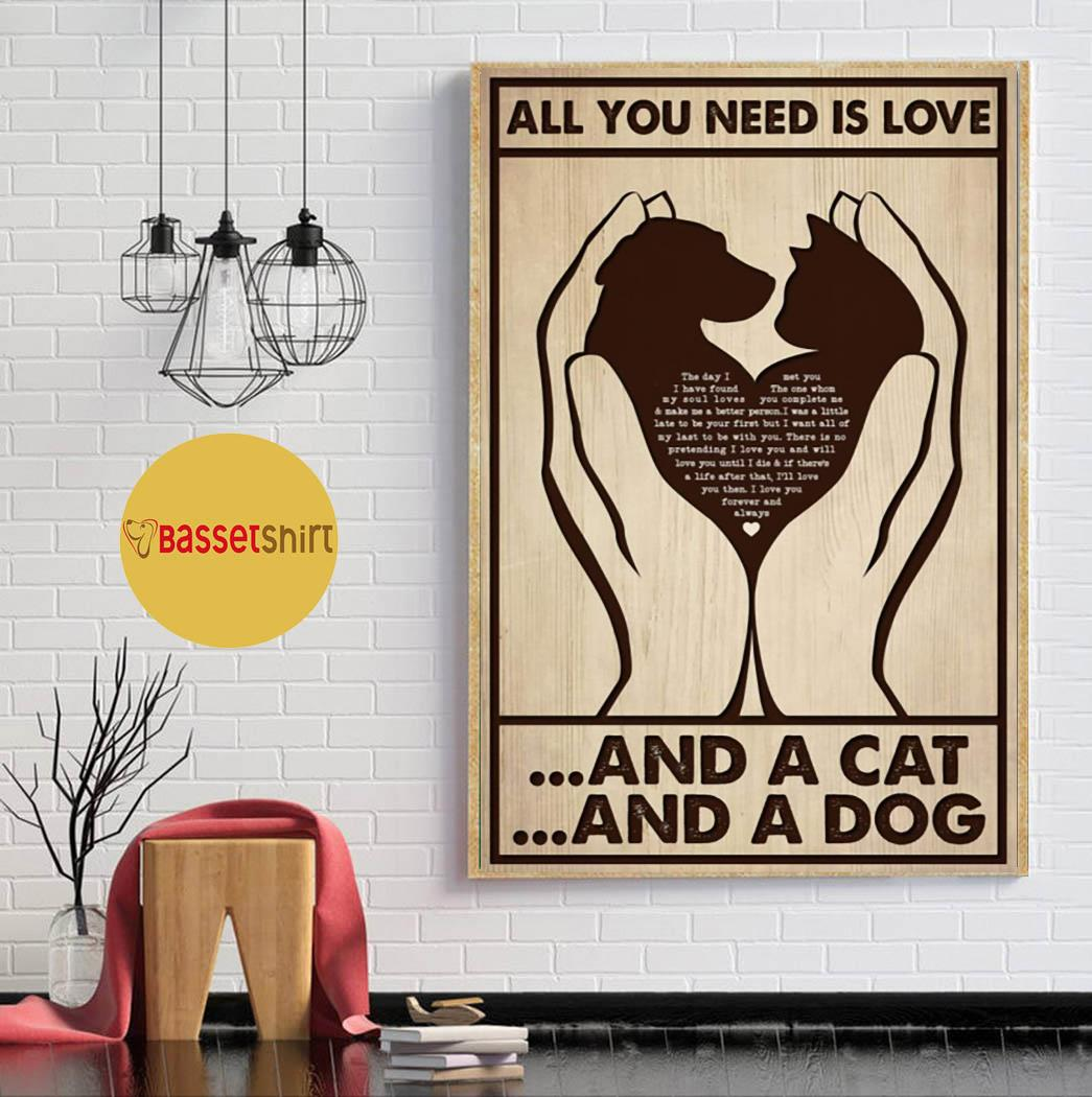 All you need is cats and dogs vertical poster