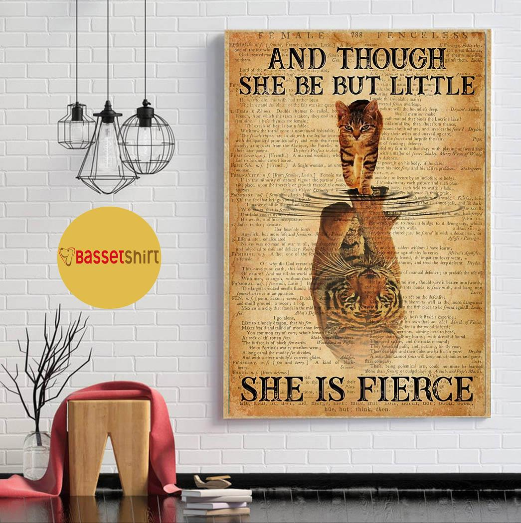 And though she be but little cat tiger poster