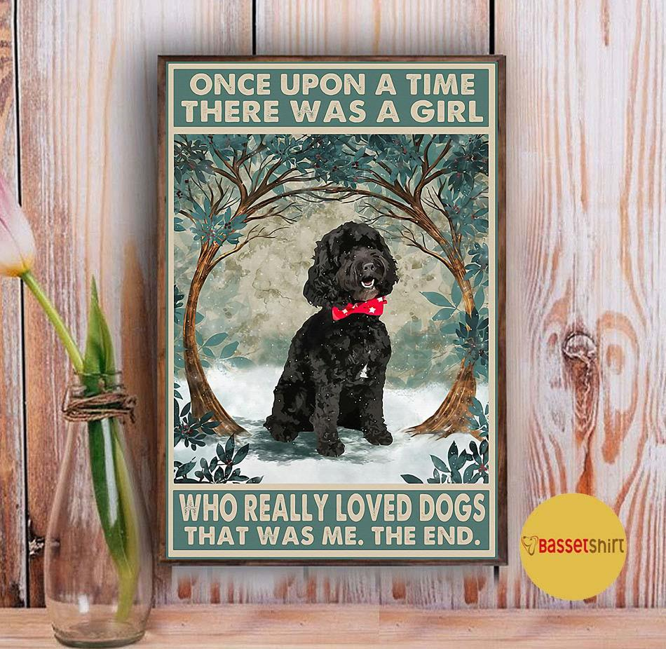 Black cockapoo there was a girl who really loved dog poster Vintage
