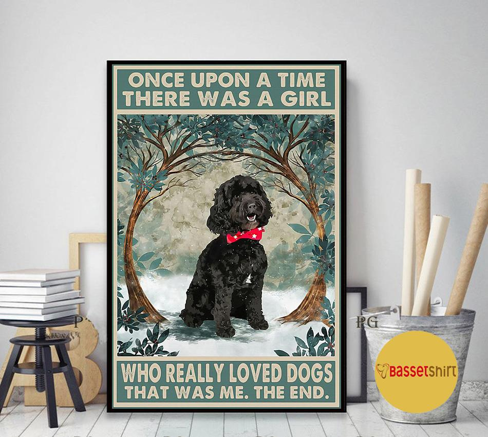Black cockapoo there was a girl who really loved dog poster art decor