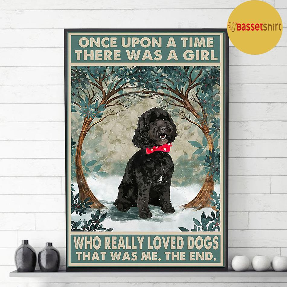 Black cockapoo there was a girl who really loved dog poster decor