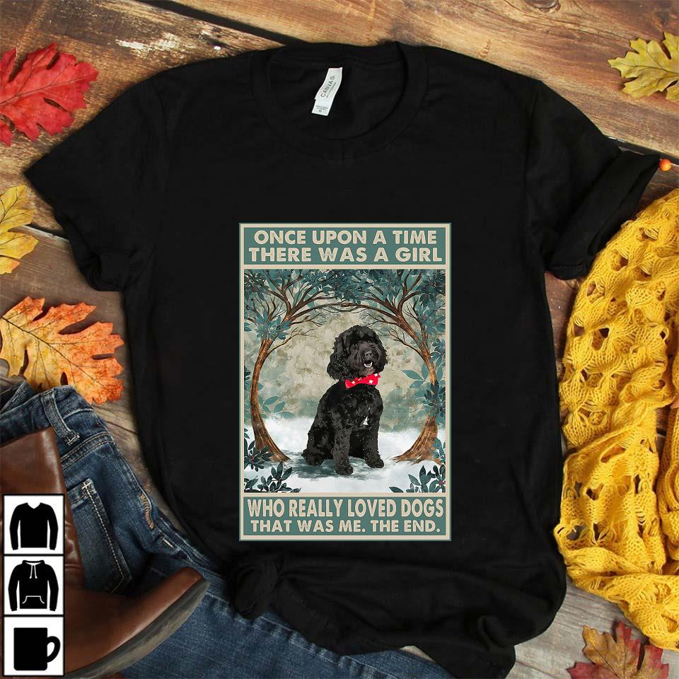 Black cockapoo there was a girl who really loved dog poster unisex t-shirt