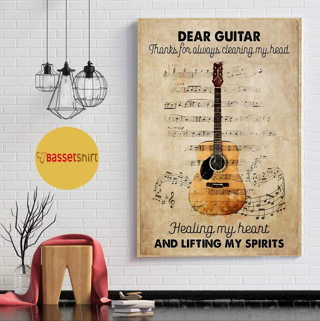 Dear Guitar thanks for always cleaning my head poster