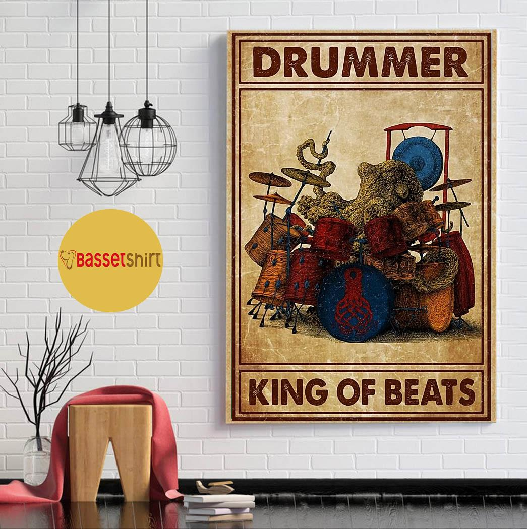 Drummer king of beats poster