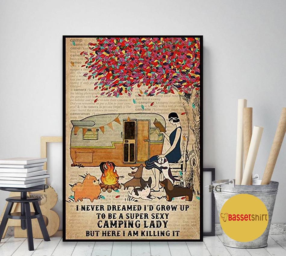 I never dreamed I'd grow up to be a super sexy vamping lady poster art decor