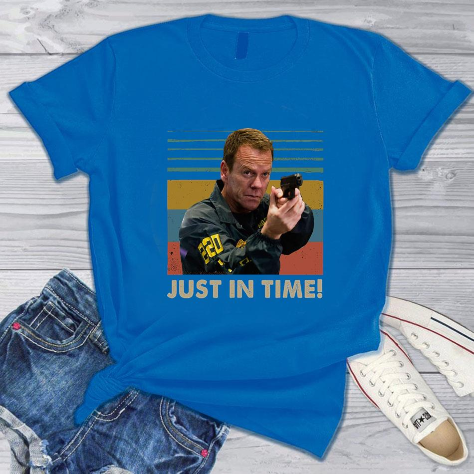 Jack Bauer just in time vintage t-s blue