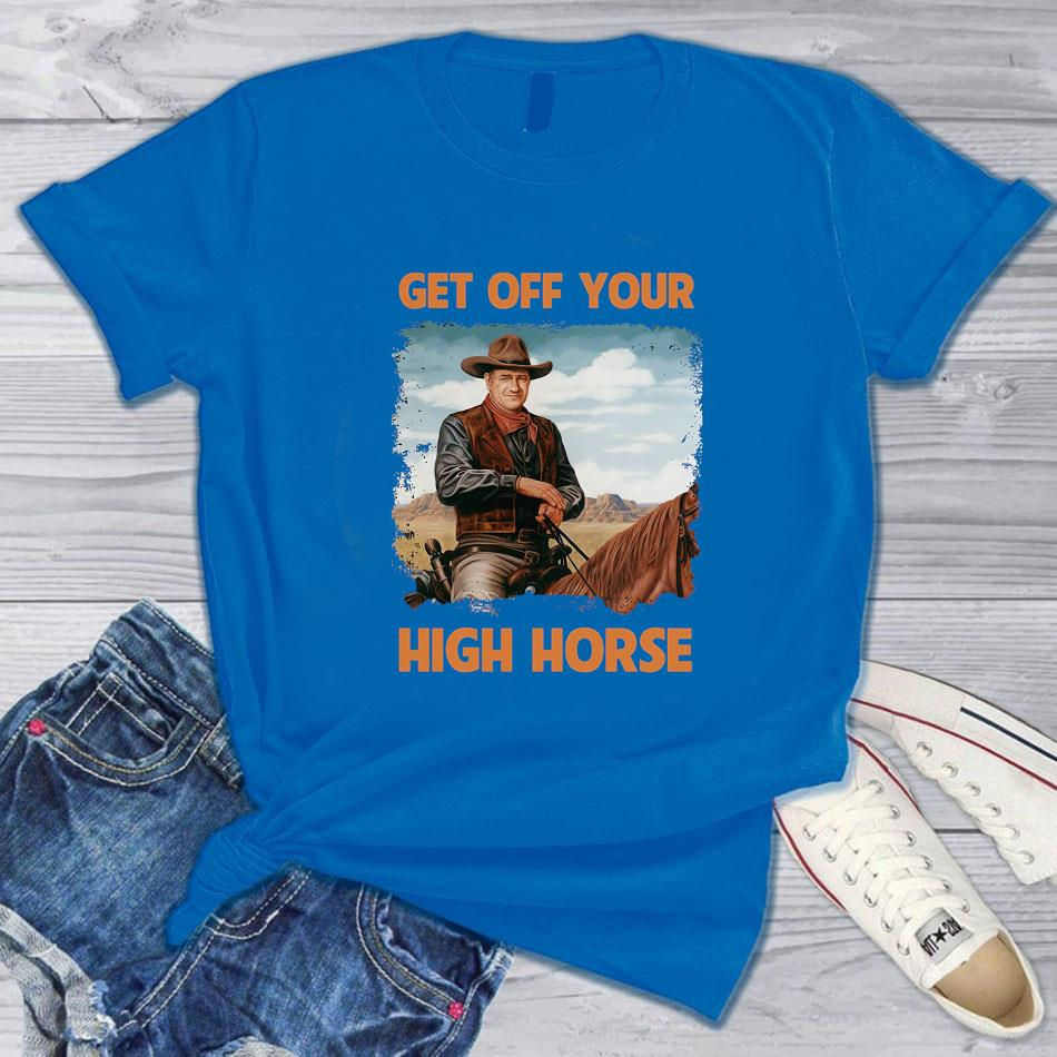 John Cowboy get off your high horse vintage t-s blue