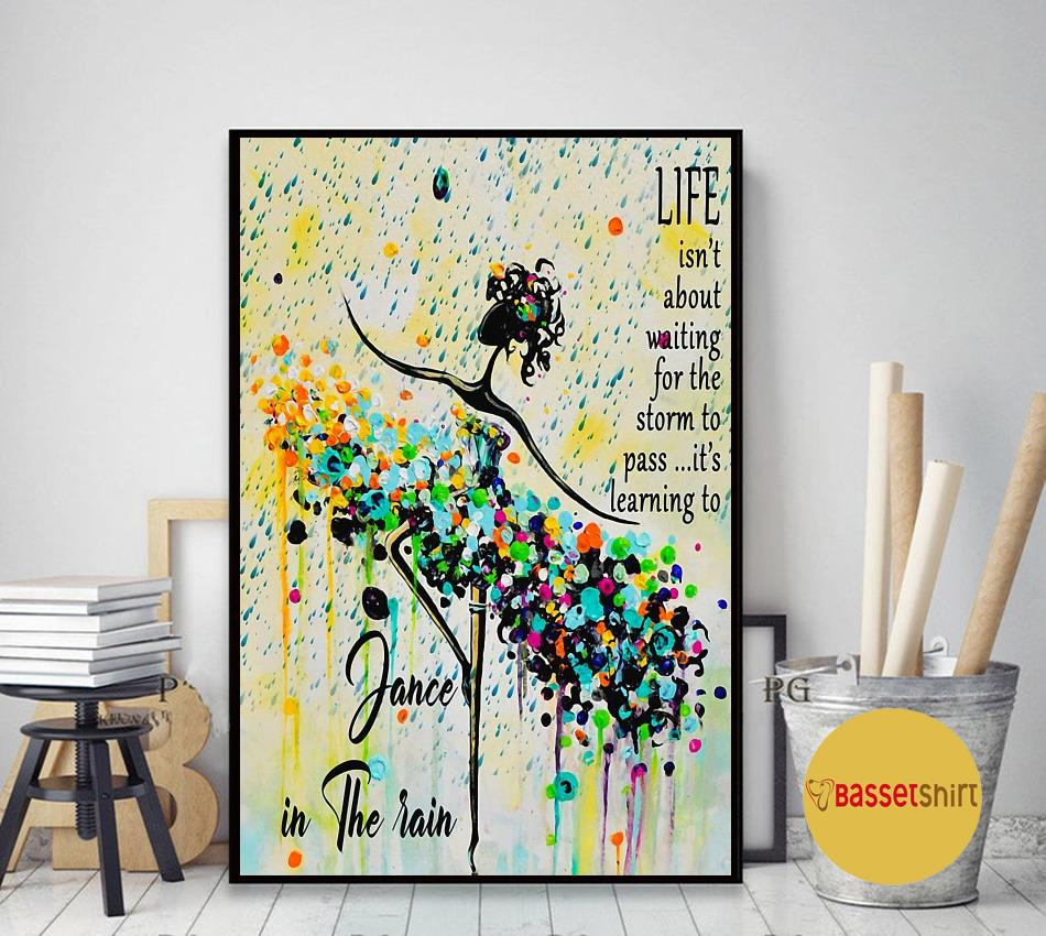 Learning to dance in the rain poster art decor