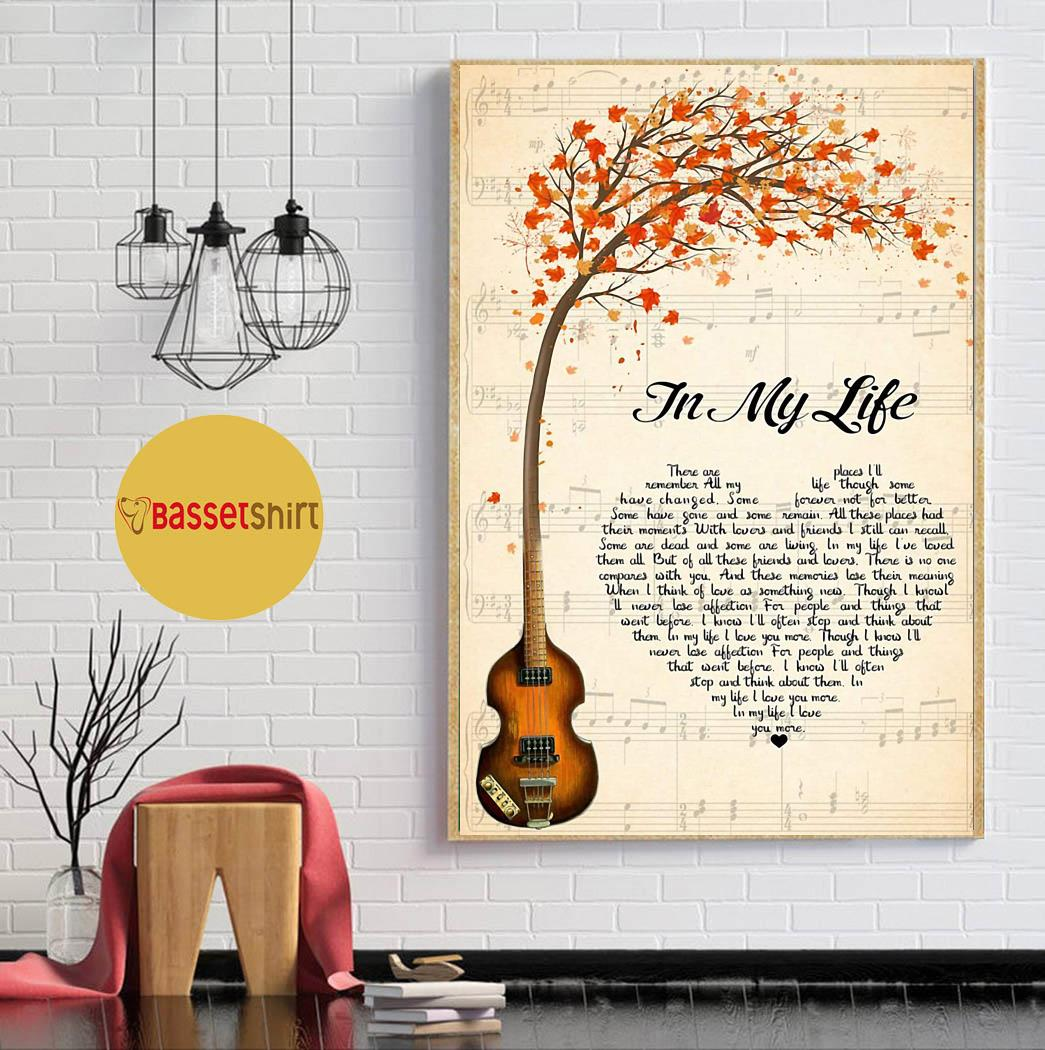 Maple guitar in my life heart shape poster