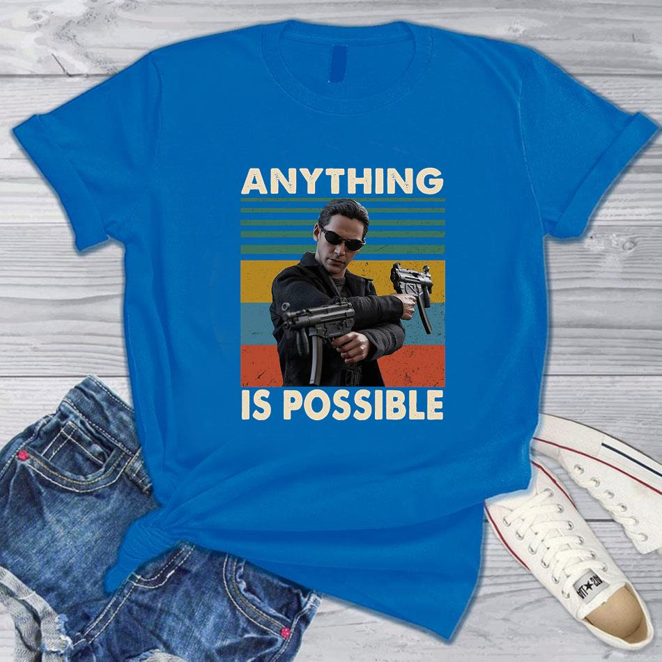 The Matrix anything is possible vintage t-s blue